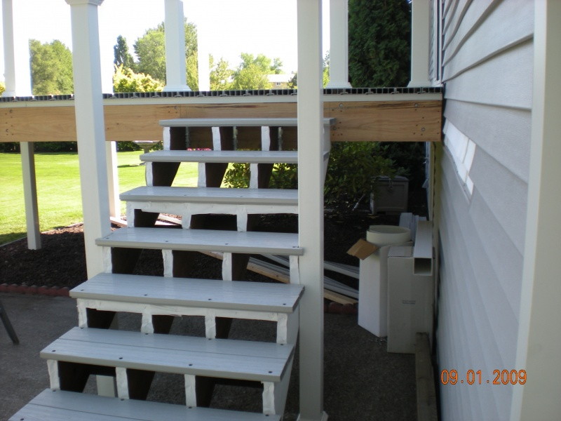 Duradek stairs and deck being built