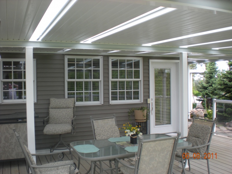 Aluminum Patio Cover With Skylights Vinyl Siding Windows