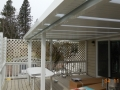 Aluminum patio cover with skylights with room for BBQ outside cover