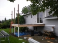 Construction of deck and posts for aluminum patio cover