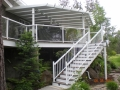 Patio cover with skylights. deck and stairs