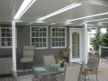 Aluminum patio cover with skylights, vinyl siding, vinyl windows