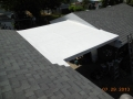 GAF TPO flat roof on breezeway