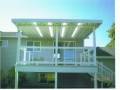 Aluminum patio cover with skylights and new deck, vinyl siding, vinyl windows