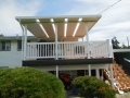 Construction completed on aluminum patio cover, deck and aluminum hand railings