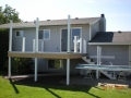Constructin of aluminum patio cover posts and hand rails with new deck