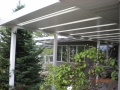 Aluminum patio awning with skylights