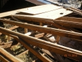Re sheet roofing rafters with CDX plywood