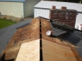 Cut in ridge vent slot in plywood during re sheeting