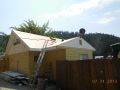 Re sheeting with CDX plywood