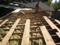 """Re sheeting home with 1/2"""" CDX plywood leaving temporary plank boards to walk on"""