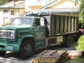 Inland Roofing dump truck (one of the fleet)