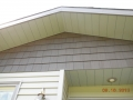 Contrasting two tone siding, contrasting aluminum soffit and fascia