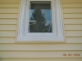 "3"" vinyl siding with vinyl casement low-e window and aluminum window trim"