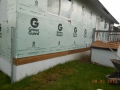 GreenGuard foam insulation board installed before vinyl siding