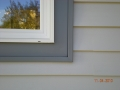 Aluminum window casing wrap around vinyl window and new vinyl siding