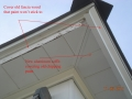 Covering peeling wood soffit and wood fascia with aluminum