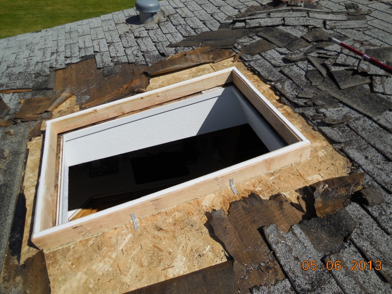 skylight curb addition