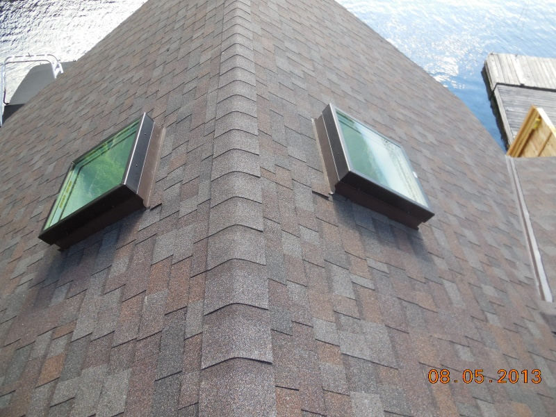 2 flat glass skylights