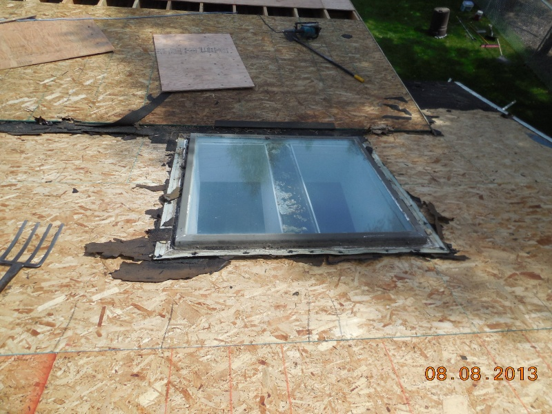 roof preparation for curb mounted skylights