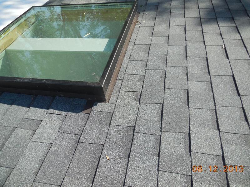flat glass skylight horizontal