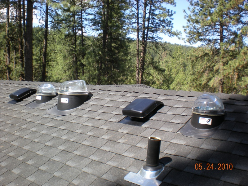 sun tunnel skylights and roof vents