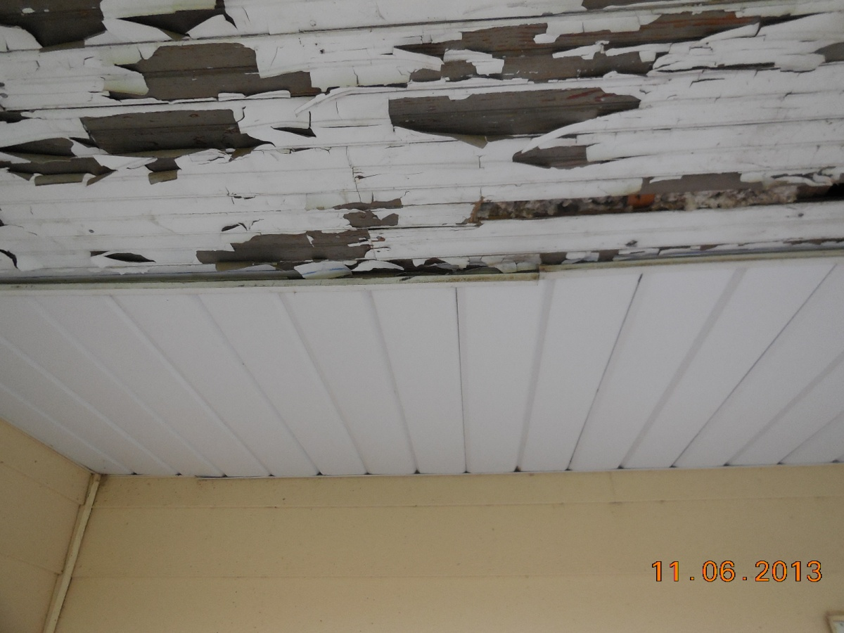 soffit is covering the peeling paint maintenance free aluminum soffit