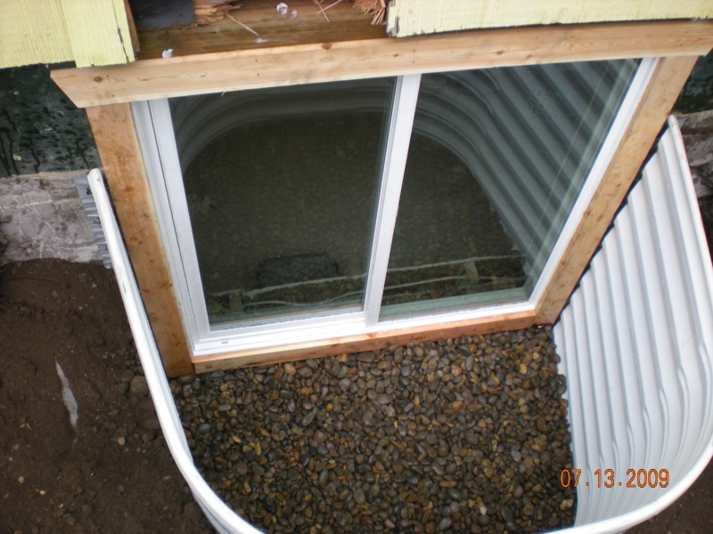 egress window nearing completion
