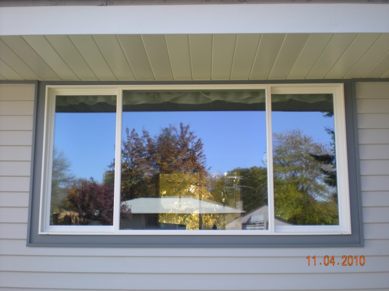 white vinyl energy star window installed that may qualify for federal tax credits
